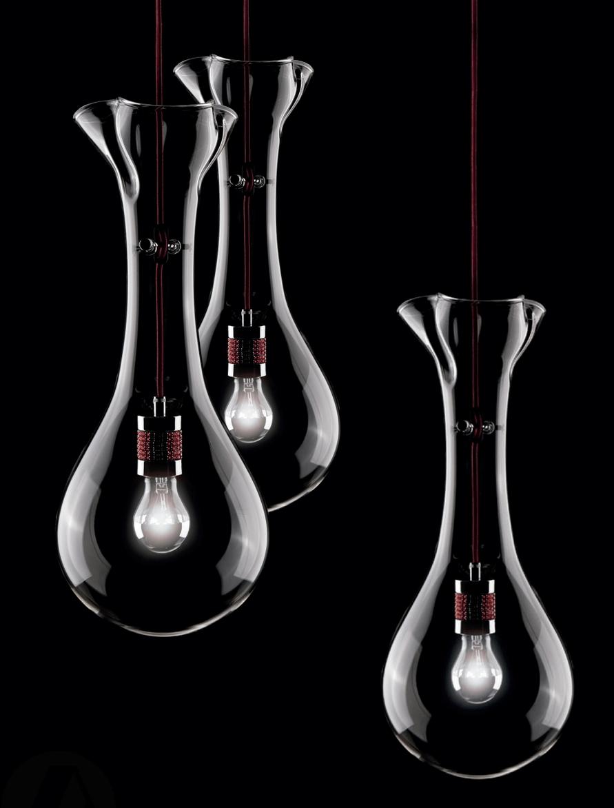 lamparas cumbia suspensión cristal soplado